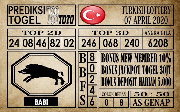 Prediksi Turkish Lottery 07 April 2020
