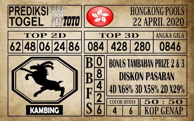 Prediksi Hongkong Pools 22 April 202
