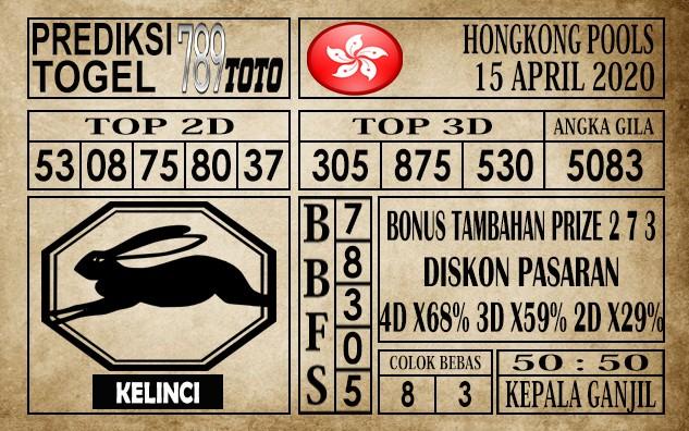 Prediksi Hongkong pools 15 April 2020