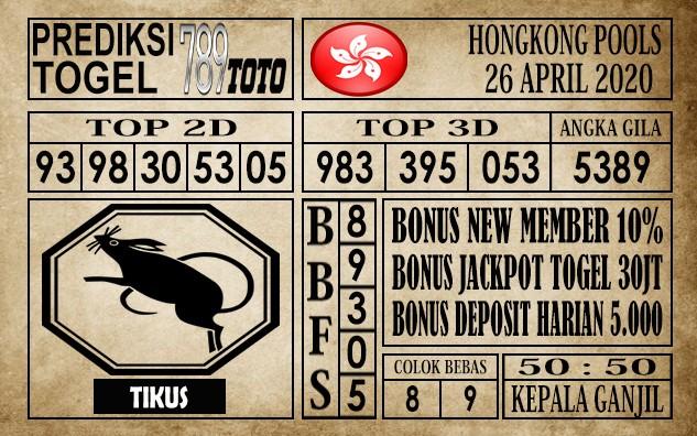 Prediksi Hongkong Pools 26 April 2020