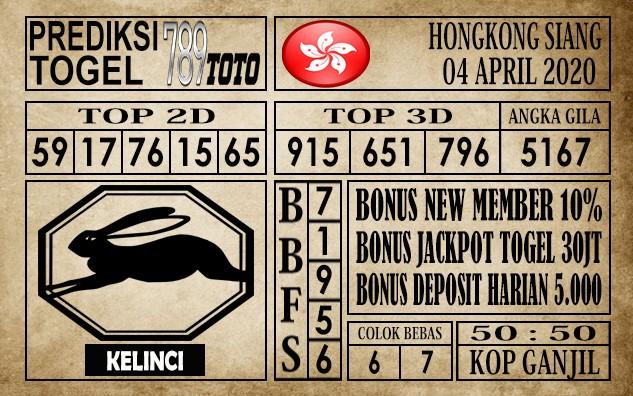 Prediksi Hongkong siang 04 April 2020