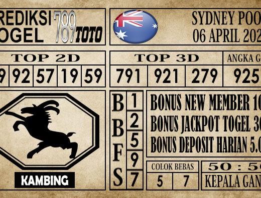 Prediksi Sydney Pools 06 April 2020