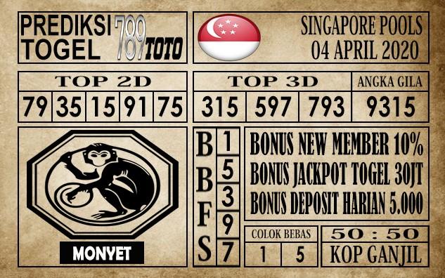 Prediksi Singapore pools 04 April 2020