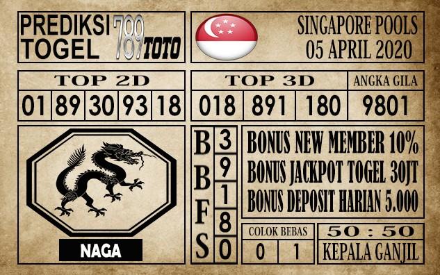 Prediksi singapore pools 05 April 2020