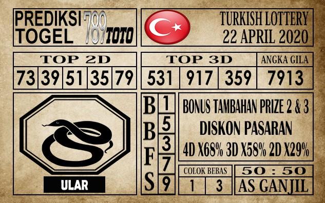 Prediksi Turkish Lottery 22 April 2020