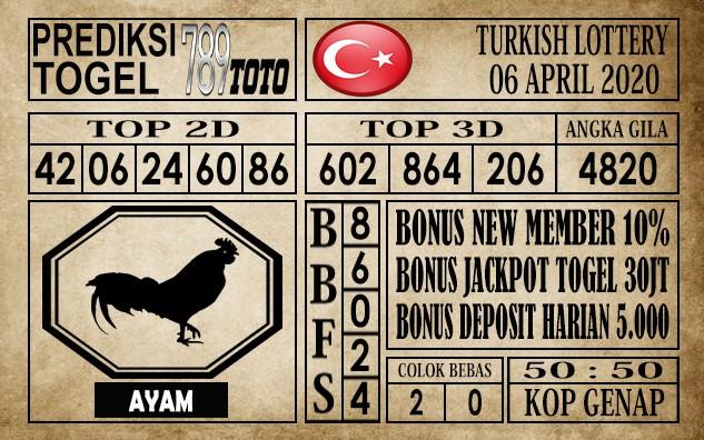 prediksi Turkish Lottery 06 April 2020