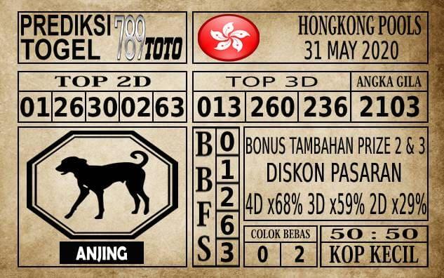 Prediksi Hongkong Pools Hari Ini 31 Mei 2020