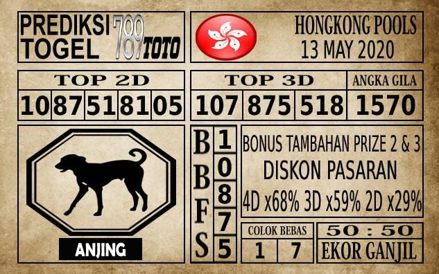 Prediksi Hongkong Pools Hari Ini 13 Mei 2020