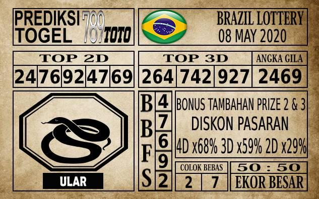 Prediksi Brazil Lottery Hari Ini 08 Mei 2020