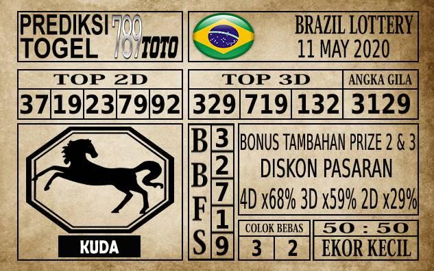 Prediksi Brazil Lottery Hari Ini 11 Mei 2020