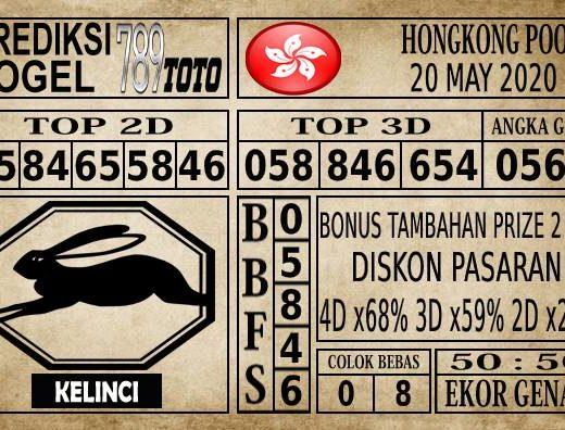 Prediksi Hongkong Pools Hari Ini 20 Mei 2020
