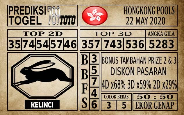 Prediksi Hongkong Pools Hari Ini 22 Mei 2020