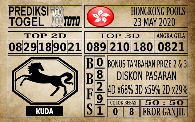 Prediksi Hongkong Pools Hari Ini 23 Mei 2020