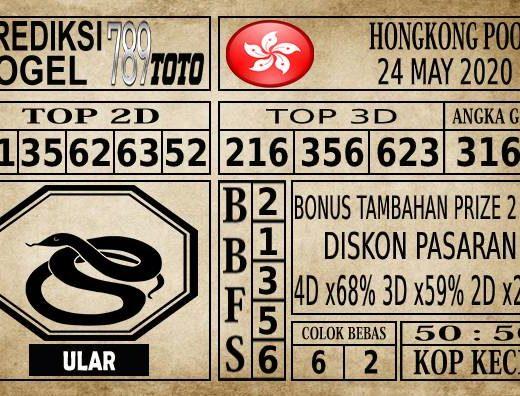Prediksi Hongkong Pools Hari Ini 24 Mei 2020