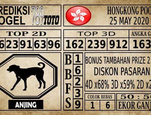 Prediksi Hongkong Pools Hari Ini 25 Mei 2020