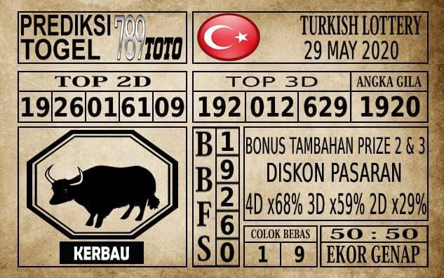 Prediksi Turkish Lottery Hari Ini 29 Mei 2020