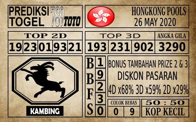 Prediksi Hongkong Pools Hari Ini 26 Mei 2020