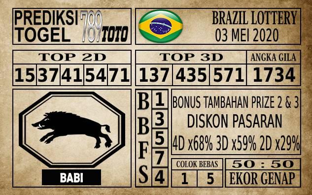 Prediksi Brazil Lottery Hari Ini 03 Mei 2020