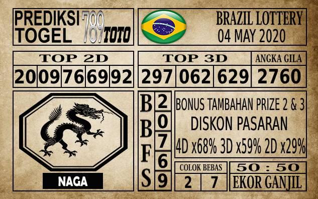 Prediksi Brazil Lottery Hari Ini 04 Mei 2020