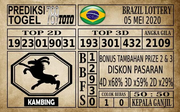 Prediksi Brazil Lottery Hari Ini 05 Mei 2020