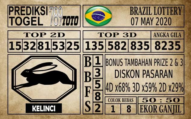 Prediksi Brazil Lottery Hari Ini 07 Mei 2020