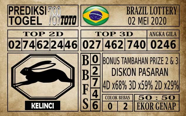 Prediksi Brazil Lottery Hari Ini 02 Mei 2020