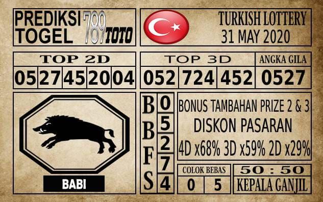 Prediksi Turkish Lottery Hari Ini 31 Mei 2020