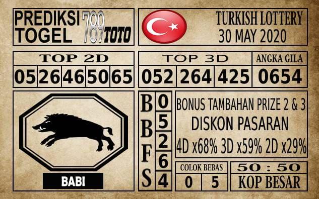 Prediksi Turkish Lottery Hari Ini 30 Mei 2020