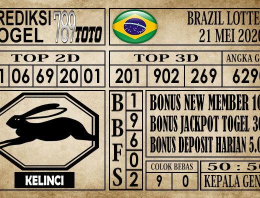 Prediksi Brazil Lottery 21 Mei 2020