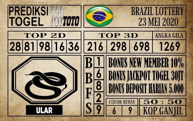 Prediksi Brazil Lottery 23 Mei 2020