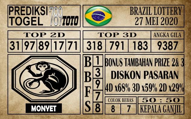 Prediksi Brazil Lottery 27 Mei 2020