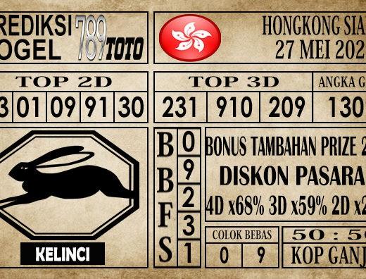 Prediksi Hongkong siang 27 Mei 2020