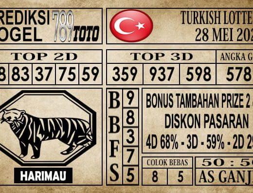 Prediksi Turkish Lottery Hari ini 28 Mei 2020