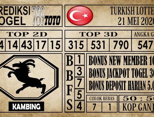 Prediksi Turkish Lottery 21 Mei 2020
