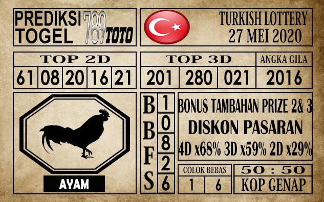 Prediksi Turkish Lottery 27 Mei 2020