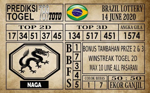 Prediksi Brazil Lottery Hari Ini 14 Juni 2020