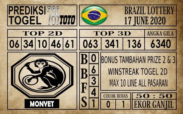 Prediksi Brazil Lottery Hari Ini 17 Juni 2020