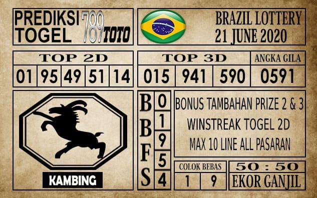 Prediksi Brazil Lottery Hari Ini 21 Juni 2020