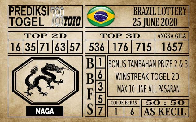 Prediksi Brazil Lottery Hari Ini 25 Juni 2020