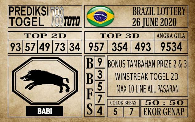 Prediksi Brazil Lottery Hari Ini 26 Juni 2020