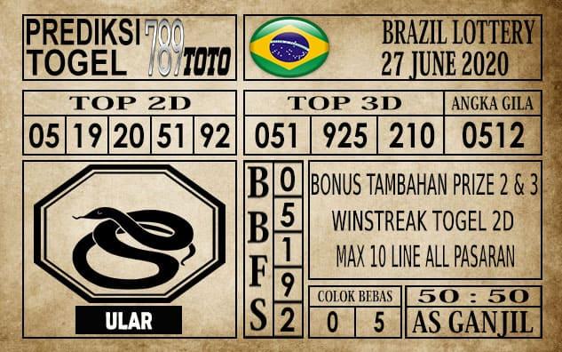 Prediksi Brazil Lottery Hari Ini 27 Juni 2020