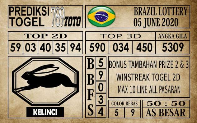 Prediksi Brazil Lottery Hari Ini 05 Juni 2020