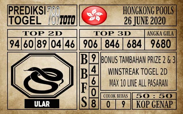 Prediksi Hongkong Pools Hari Ini 26 Juni 2020