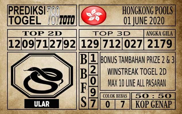 Prediksi Hongkong Pools Hari Ini 01 Juni 2020