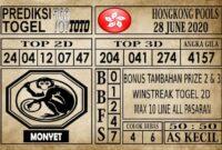Prediksi Hongkong Pools Hari Ini 28 Juni 2020
