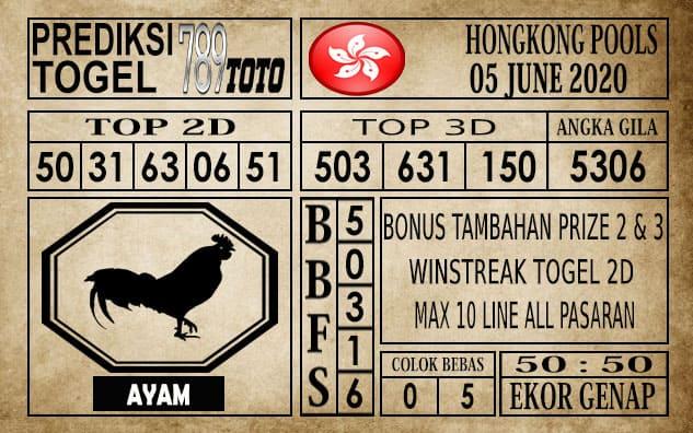 Prediksi Hongkong Pools Hari Ini 05 Juni 2020