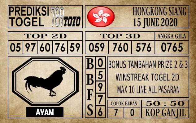 Prediksi Hongkong Siang Hari Ini 15 Juni 2020