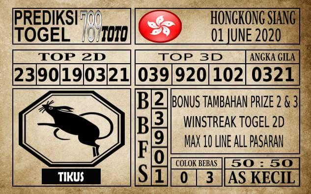 Prediksi Hongkong Siang Hari Ini 01 June 2020