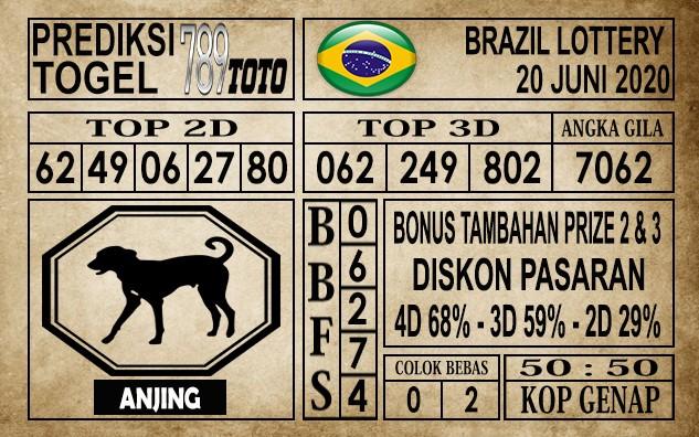 Prediksi Brazil Lottery Hari Ini 20 Juni 2020