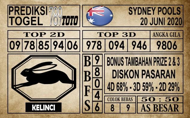 Prediksi Sydney Pools Hari ini 20 Juni 2020